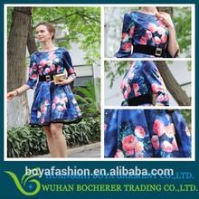 2015 fashion design wholesale one piece girls party dresses