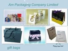 Popular custom printed paper bag, gift bag & packaging bag with handle