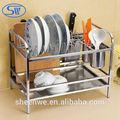 wdj309 açoinoxidável multifuncional cozinha escorredor de pratos
