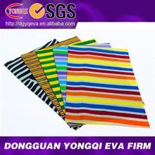 EVA Foam Colored Stripe Art Craft Sheet