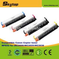 Compatible Canon copier toner cartridge NPG52/GPR36/EVX36 color toner for IR2020/2025/2030/2220/2225/2230