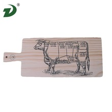 wholesale shaped Europe stain Pine cutting board