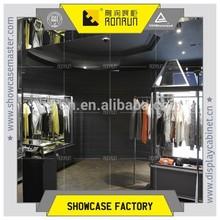 Vintage black showcase and cashier desk for fashion garment boutique display furniture