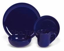 Ceramic Tableware Dinnerware Set Dark Blue