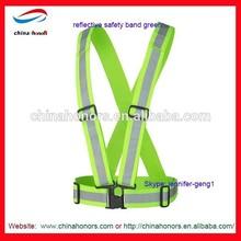 reflactive safety vest/reflective safety band green