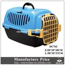 Fashion design large plastic dog transport cage