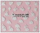 Top quality Fresh Silver Edge 3D Nail Sticker White Flower Pattern Nail Sticker