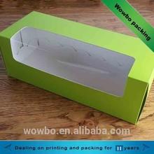 hot sale high quality paper hot dog box with PVC /long hamburger box