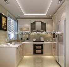 apartment furniture luxury white marble kitchen cabinet furniture/kitchen set