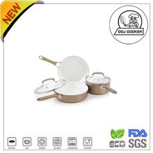 5PCS FDA&LFGB Non-stick Aluminum Ceramic Coating Houseware
