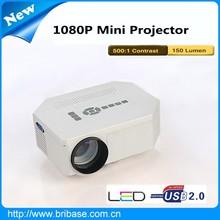 Bribase HD 1080P short throw projector B-PJUC30 With HDMI,VGA,USB,SD Card slot for Home theater