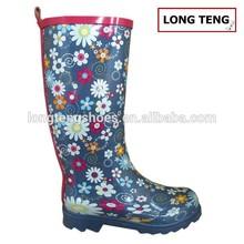 latest design rubber shoes ladies garden boots