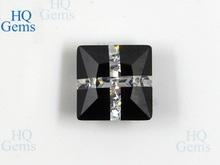 Square Semi Precious Gemstone Black Cubic Zirconia for Jewelry