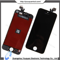 Cell phone spare part for iphone 5 lcd assembly, for iphone 5 screen digitizer