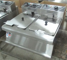 Commercial Fish And Chips Fryers With Two Tank Two Basket