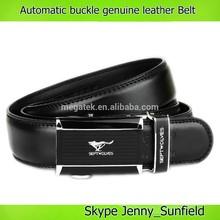 automatic buckle genuine leather belt men belt