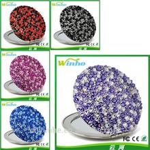 Winho China supplier crystal handbag makeup mirror