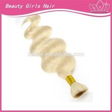 wholesale grade AAAA no chemical all length blonde virgin human hair bulk 80 cm