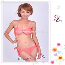 2015 hot open sex girl bikini models bikini with side ties