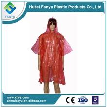 disposable breathable plastic rain poncho kids