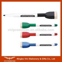 Slim Design White Board Marker with Brush (VWM025)