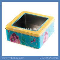 window tin luxury gift box packaging for mugs