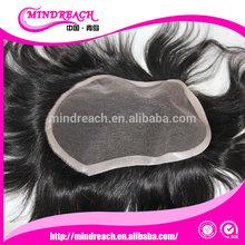 100% Human Hair 6inch 1b# natural straight hair toupee, men hair toupee, human hair toupee