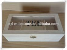 Natural Paulownia Wood Tea Box Tea Chest for Sale
