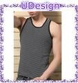 negro a rayas tops hombre hombre clásico del verano fresco camisetas de tirantes halter baratos camisetas de tirantes