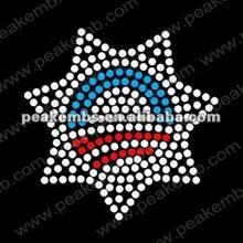 2012 Obama emblem for hot fix rhinestone motif for garment accessories