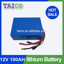 Li-ion LiFePO4 Batteries 18650 12V 100Ah Solar Battery