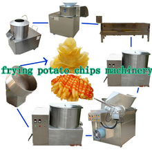 fried potato chip maker stainless steel materail frozen potato chips semi-automatic machine (skype:sophiezf3)