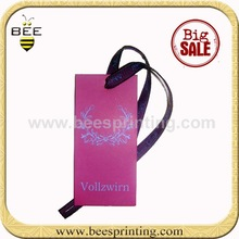 hang tag for children's clothing , paper membership cards , OEM fancy Deep Purple invitation Cards