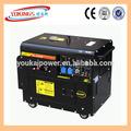 Generador silencioso de 5kw, grupo electrógeno diesel con arranque eléctrico fabricado en china