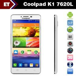 "Original 5.5"" Coolpad K1 7620L 4G Lte FDD Mobile Phone MSM8926 Quad Core 1.2GHz 1GB / 4GB 8.0MP Camera Dual SIM OTG GPS WIFI"