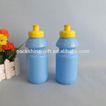 Stock basketball drink bottle label maker, eco friendly pe plastic outdoor drink bottle,5 colors optional