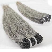 brazilian hair london 100% unprocessed peruvian virgin grey hair human hair bundles