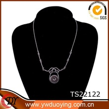 custom alloy plain jewelry replaceable snap buttons diy blank necklace
