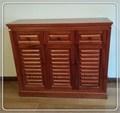 home móveis de madeira de mogno sólido armário da sapata
