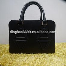 Diamond Pattern Leather Bag Mens Leather Bags Laptop Computer Leather Handbag Executive Briefcase