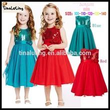 2015 new model wholesale children blingbling girl dress cotton fabric kids dresses bulk wholesale kids clothes