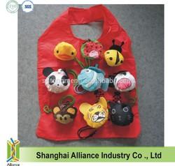 Ladybug + Panda + Lion + Bee + Monkey + Duck + Cow Animal Foldable Shopping Bag