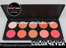 Manufacture custom logo high quality 10colors blusher palette chemical powder blush