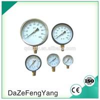 Bottom type supply yf pressure gauge
