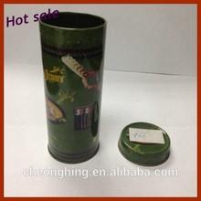 High quality small round metal tin box