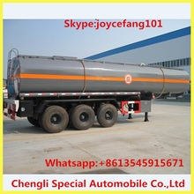 35M3 Small Chemical Liquid Semi Trailer Truck,Hydrochloric Acid Tank Semi Trailer For Sale