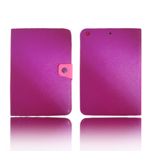 luxury pu leather wallet flip cover stand case For Apple iPad Mini