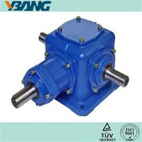 T series Speed Reduction Ratio 2:1 3:1 4:1 5:1 Right Angle Spiral Bevel Gearbox