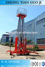 18m 200kg four post Telescoping Lift Portabl hydraulic man lifter