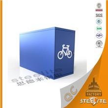 Home Furniture KD Structure Blue Lockable Metal Bike Locker